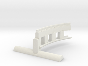 Bradford & Foster Brook Curved Rail in White Natural Versatile Plastic