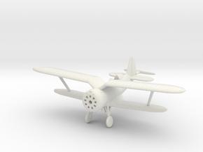 1/144 Polikarpov I-153 in White Natural Versatile Plastic