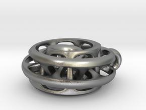 Moebius I, pendant in Natural Silver