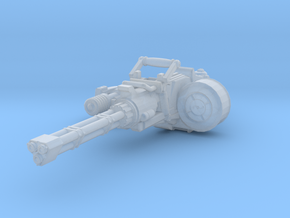 advanced Gatline Cannon 001a carried with support in Smooth Fine Detail Plastic