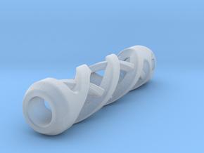 Tritium Lantern 2A (Silver/Brass/Plastic) in Smooth Fine Detail Plastic