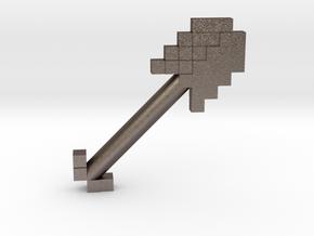 Mine Shovel in Polished Bronzed Silver Steel