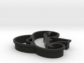 Ampersand typographic cookie cutter in Black Strong & Flexible