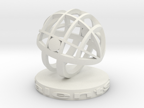 TalentSphere 3D with Stand in White Natural Versatile Plastic