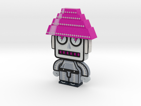 DevoBots Series 1 B/W with Pink Energy Dome : Bob  in Full Color Sandstone