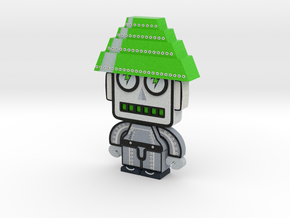 DevoBots Series 1 B/W with green Energy Dome Bob 1 in Full Color Sandstone