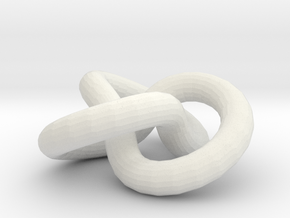 trifoldKnot in White Natural Versatile Plastic