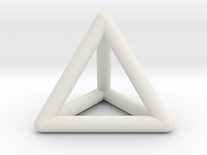 Tetrahedron in White Natural Versatile Plastic