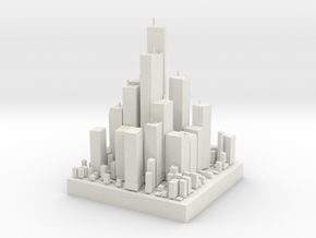 A mini city in White Natural Versatile Plastic