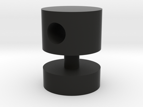 Cylindric Knob in Black Natural Versatile Plastic