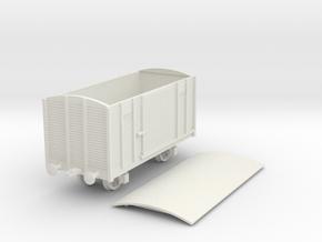 1/100 (15mm) Soviet 2 axle box car in White Natural Versatile Plastic