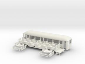 OEG geschl. Dampfbahnbeiwagen gr. Stirnfenster in White Strong & Flexible