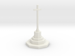 War Memorial in N Gauge (1:148) in White Natural Versatile Plastic