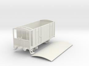 1/100 (15mm) scale Soviet 2 axle box car brake in White Natural Versatile Plastic