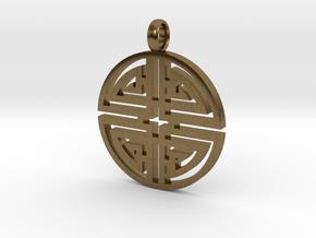 Longevity Pendant in Natural Bronze