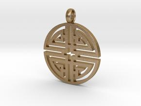 Longevity Pendant in Polished Gold Steel