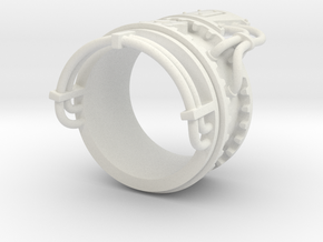 Steampower ring v2 in White Natural Versatile Plastic