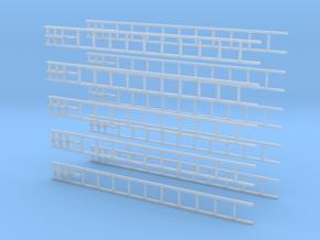 Hakenleiter-Set (Alu) in Smooth Fine Detail Plastic