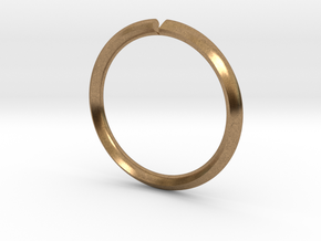 Secret Hidden Heart Ring for introverts! (sz 5.25) in Raw Brass