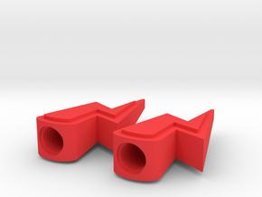 Lightning Valve Caps in Red Processed Versatile Plastic