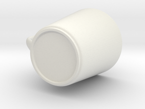 Coffee Cup in White Natural Versatile Plastic