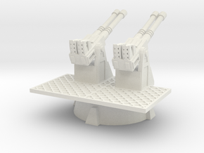 28mm scale Quad 40mm AA Turret in White Strong & Flexible