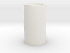 "Plain Blade Plug - Fits 1"" saber blade in White Natural Versatile Plastic"