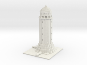 Lighthouse Minecraft in White Natural Versatile Plastic