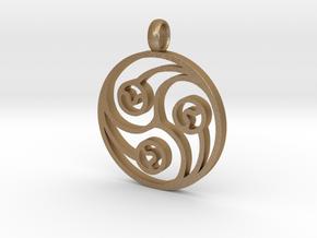Trinity Pendant in Matte Gold Steel