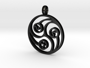 Trinity Pendant in Matte Black Steel