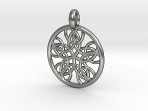 Isonoe pendant in Natural Silver