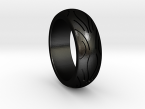 Motorcycle Low Profile Tire Tread Ring Size 10 in Matte Black Steel