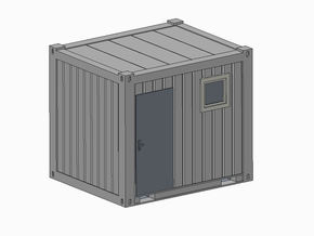 H0 1:87 Sanitärcontainer 10' in Frosted Ultra Detail