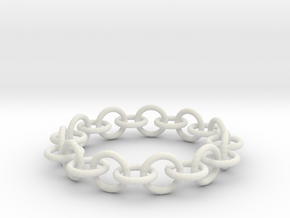 Chain Bracelet in White Natural Versatile Plastic