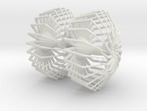 Spiderweb earrings in White Natural Versatile Plastic