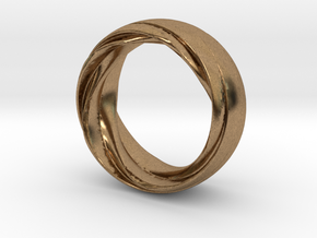 Twist Fit Ring - Size O in Natural Brass