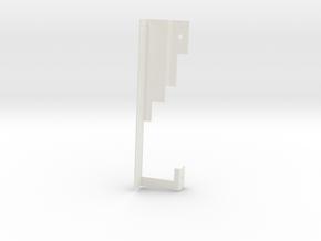 throttle arm frame pd in White Natural Versatile Plastic