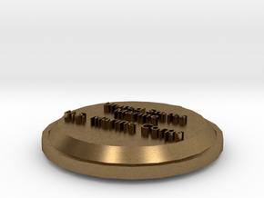 U.S. Marine Pendant in Natural Bronze