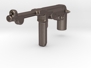 MP40 machine pistol WWII germany for lego in Polished Bronzed Silver Steel