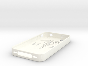 iPhone 4/4S case with RN logo in White Strong & Flexible Polished