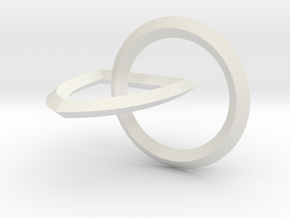 Interlocking Seals — Large in White Natural Versatile Plastic