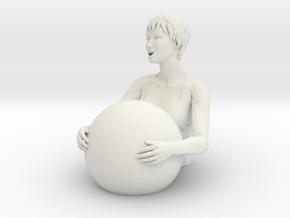 Bathers girl in White Natural Versatile Plastic