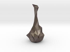 Common Random Vase in Polished Bronzed Silver Steel