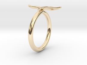 Leaf Ring in 14K Yellow Gold