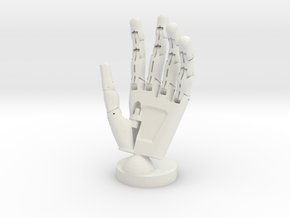 Cyborg open hand small in White Strong & Flexible