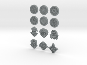 Morty Badges in Polished Metallic Plastic