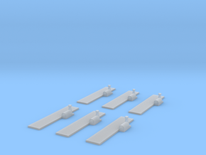 Airfields (all straight) x6 in Smooth Fine Detail Plastic