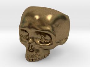 Skullring Size 8 in Natural Bronze