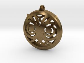 Hypno Owl Pendant in Natural Bronze