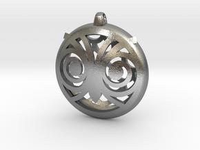 Hypno Owl Pendant in Natural Silver